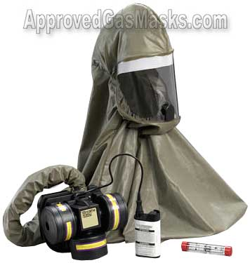 Breathe Easy gas mask hood protection system by 3m
