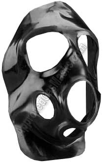 3M Fr M40 gas mask Second Skin butyl face covering