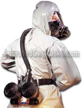 C420 PAPR respirator system is used in true HazMat conditions or wherever a gas mask is worn for prolonged periods
