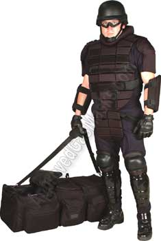 Riot control gear kit for police disturbance control or cell extraction
