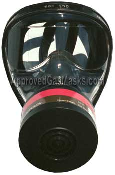 SGE 150 Technopro gas mask and M95 gas filter for NBC protection