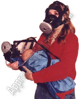 Baby infant child gas mask hood