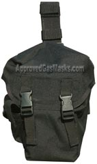 Black Hawk gas mask bag - front view