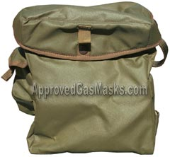 Surplus British military gas mask bag - front view