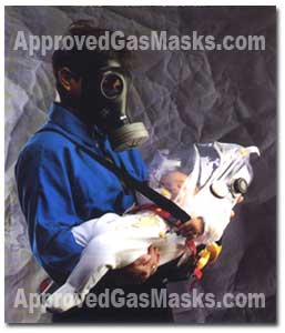 The Shmartaf infant protective hood system is made for ages 0-3 for use in place of a gas mask