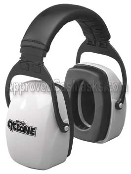 Cyclone earmuffs offer ear hearing protection earmuff
