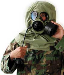Evolution 5000 / K1 gas mask kit, aka HK-1,  comes complete with hood, bag and more