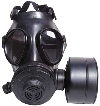 The Evolution 5000 gas mask is made for the military and comes as a full kit