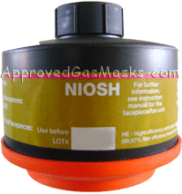 DP (Domestic Preparedness) Multi-Gas/P100 'NBC' Filter Canister
