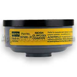 North 75003 OV CL HC SD HF CD gas filter for any North gas mask