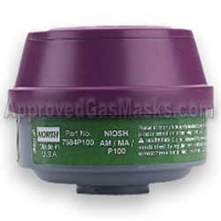 North N7581 P100 and AM ME Ammonia and Methylamine gas filter for any North gas mask