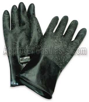 Military spec NBC Butyl rubber gloves offer the highest levels of chemical protection on the market