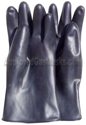 North butyl NBC rubber gloves offer the highest levels of chemical protection