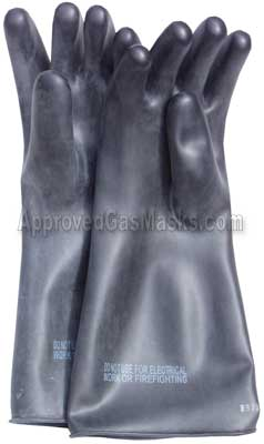 Mil-spec NBC Butyl rubber gloves offer the highest levels of chemical protection on the market