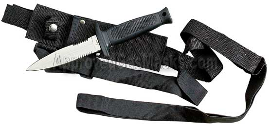 Backup knife with hidden versatile sheath harness