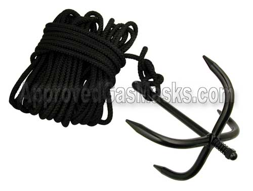 Grappling hook and nylon rope kit