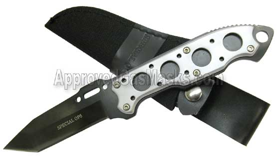 Military and SWAT police tactical knives knife and tools