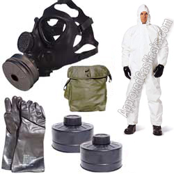 M15 gas mask kit includes many of the protection basics