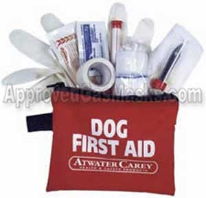 Dog first aid medical kit for emergency pet care