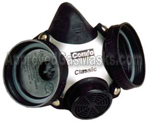 MSA Comfo Classic half mask is made from a black silicone rubber for a great fit