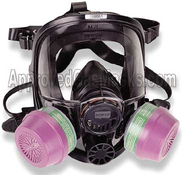 North 7600 series half mask accepts a wide variety of filters