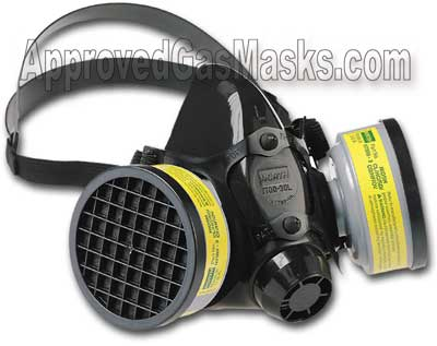 North 7700 series half mask accepts a wide variety of filters