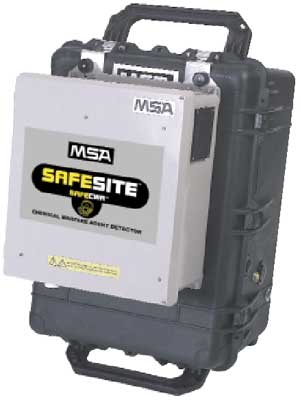 MSA SafeSite Chemical Warfare Agent field detector and monitor
