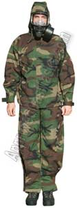Camouflage NBC protective suit