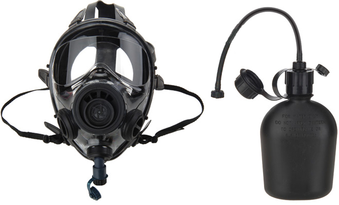 SGE 400/3 InfinityNBC Gas Mask is NIOSH approved with an M95 filter for NBC CBA RCA hazards