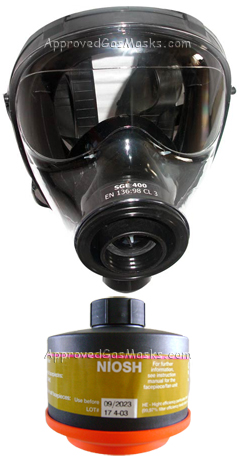 The SGE 400 gas mask and Drager NBC filter are the state-of-the-art in mask technology