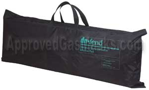 The Decontamination Shower kit comes in a sturdy nylon carry and storage bag