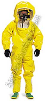 Tychem BR620 BR630 BR 620 630 Protective Chemical Suit - Coveralls with boots and hood