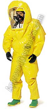 Tychem BR660 BR670 BR 660 670 Protective Chemical Suit - Coveralls with boots and hood